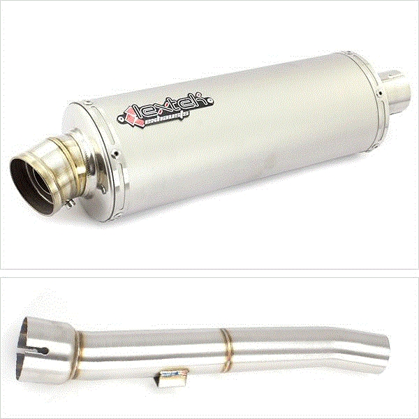 Lextek OP1 Matt S/Steel Exhaust Exhaust with Link Pipe for Yamaha FZS 1000 (00-05)