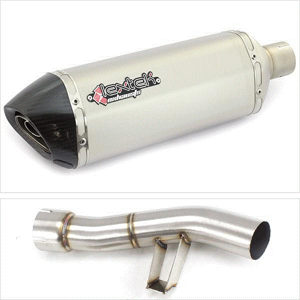 Lextek SP1 Matt S/Steel Exhaust with Link Pipe for Yamaha FZ1 (06-15)