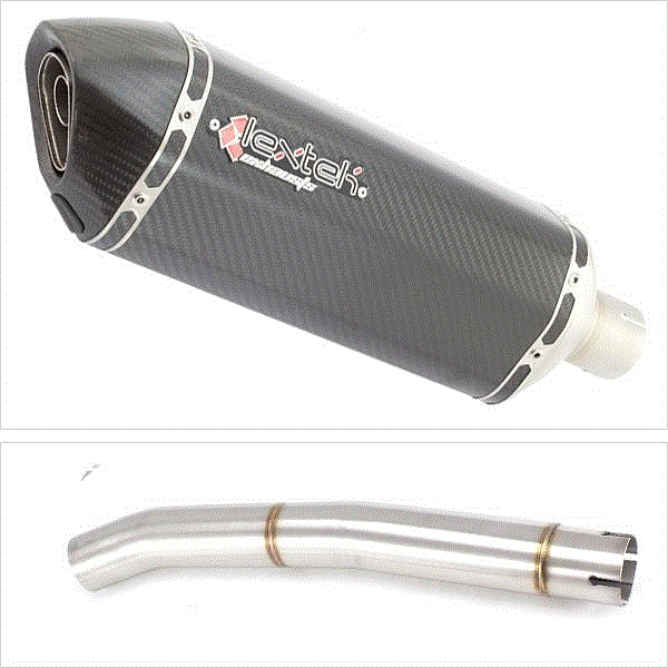 Lextek SP8C Carbon Fibre Exhaust with Link Pipe for Yamaha R6 (06-16)