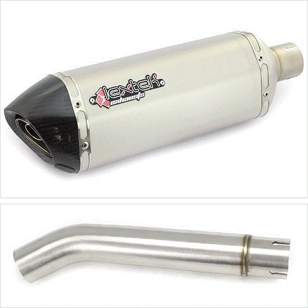 Lextek SP1 Matt S/Steel Exhaust with Link pipe for Yamaha YZF600R Thunder Cat FZR600R (95-07)