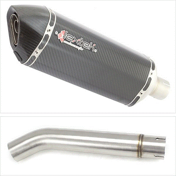 Lextek SP8C Carbon Fibre Exhaust with Link pipe for Yamaha YZF600R Thunder Cat FZR600R (95-07)