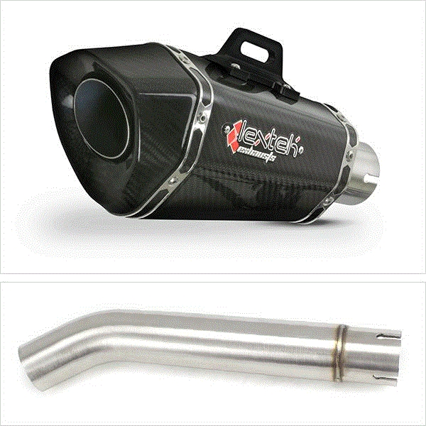 Lextek XP8C Carbon Fibre Exhaust with Link pipe for Yamaha YZF600R Thunder Cat FZR600R (95-07)
