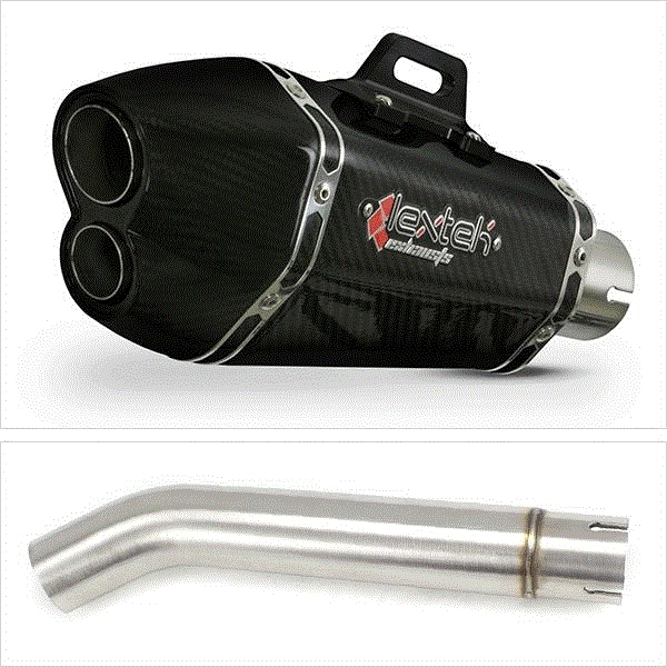 Lextek XP13C Carbon Fibre Exhaust with Link pipe for Yamaha YZF600R Thunder Cat (95-07) FZR600R (94-96)