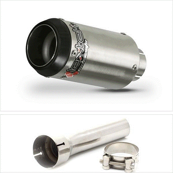 Lextek CP1 Matt S/Steel 150S Exhaust Silencer 51mm for BMW R 1200 GS (13-18)