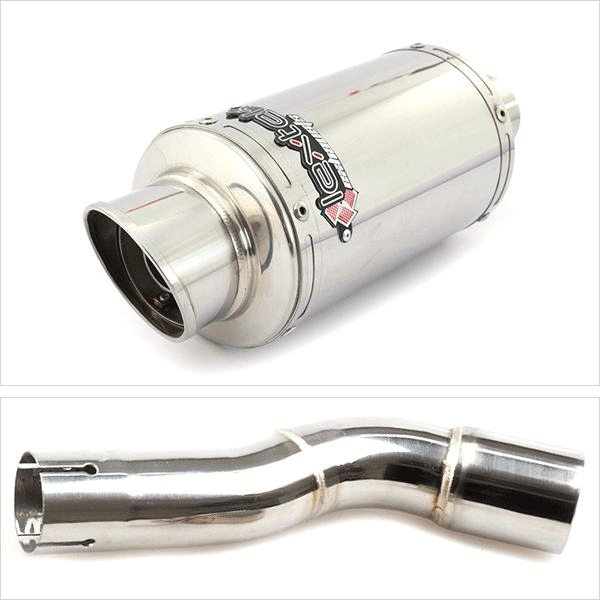 Lextek YP4 Exhaust Silencer with Link Pipe for Honda CMX 500 Rebel (17-19)