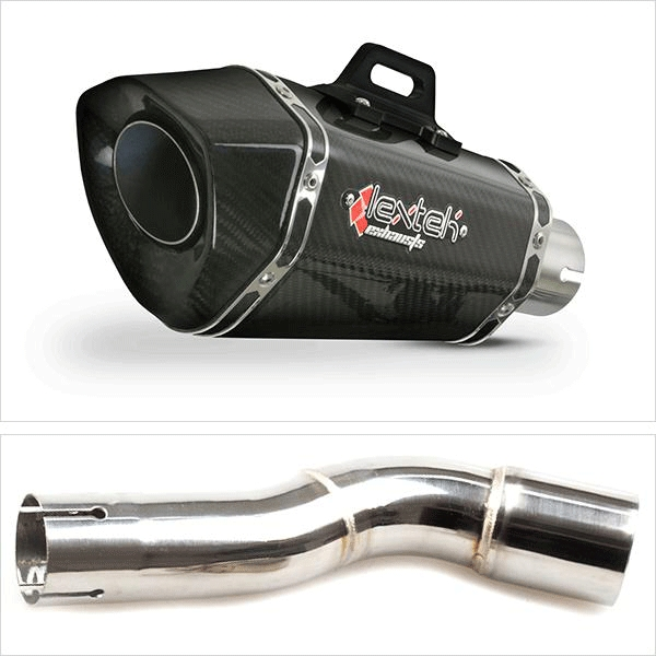 Lextek XP8C Exhaust Silencer with Link Pipe for Honda CMX 500 Rebel (17-19)