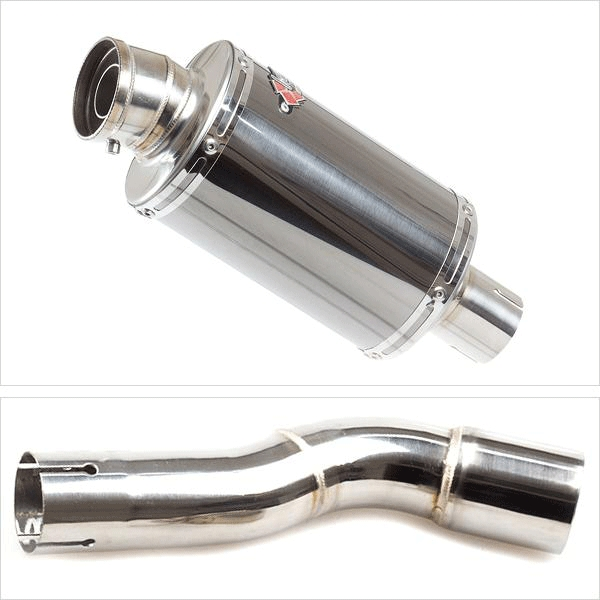 Lextek OP15 Exhaust Silencer with Link Pipe for Honda CMX 500 Rebel (17-19)