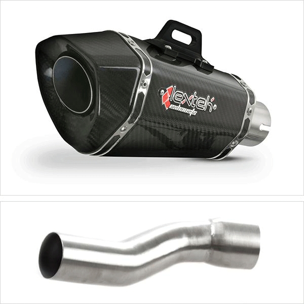 Lextek XP8C Exhaust Silencer with Link Pipe for Ducati Monster 1200 (14-19)