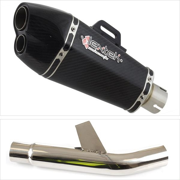 Lextek XP13C Exhaust Silencer with Link Pipe for Kawasaki Versys 1000 (15-18)