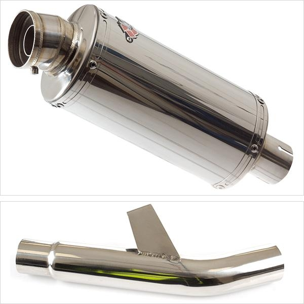 Lextek OP5 Exhaust Silencer with Link Pipe for Kawasaki Versys 1000 (15-18)