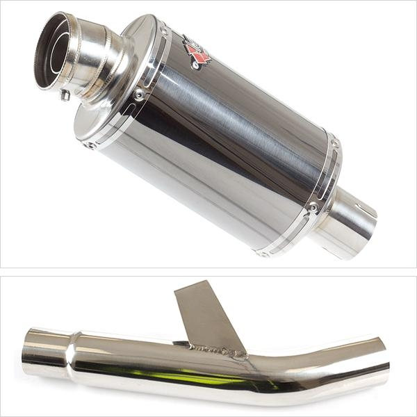 Lextek OP15 Exhaust Silencer with Link Pipe for Kawasaki Versys 1000 (15-18)