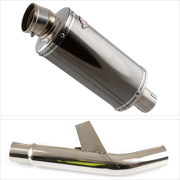 Lextek OP16 Exhaust Silencer with Link Pipe for Kawasaki Versys 1000 (15-18)
