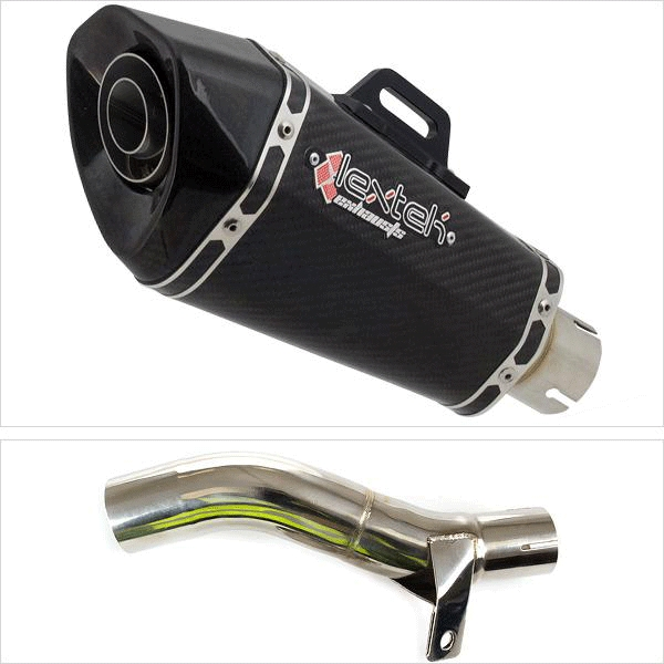 Lextek XP8C Exhaust with Link Pipe for Honda CB500 F/X (13-20)