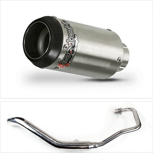Lextek CP1 Matt S/Steel 150S Exhaust System for Lexmoto XTR S 125 (10-16)