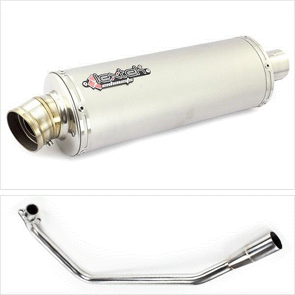 Lextek OP1 Matt S/Steel Exhaust for Lexmoto ZSX125 (13-16)