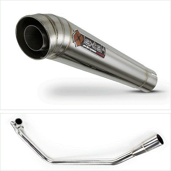 Lextek MP4 S/Steel Megaphone Exhaust for Lexmoto ZSX125 (13-16)