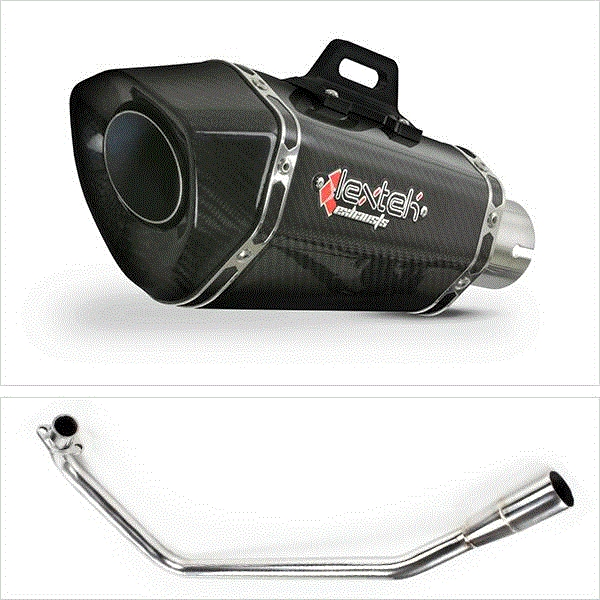 Lextek XP8C Carbon Fibre Hexagonal Exhaust for Lexmoto ZSX125 (13-16)