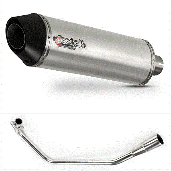 Lextek RP1 Gloss S/Steel Round Exhaust for Lexmoto ZSX125 (13-16)