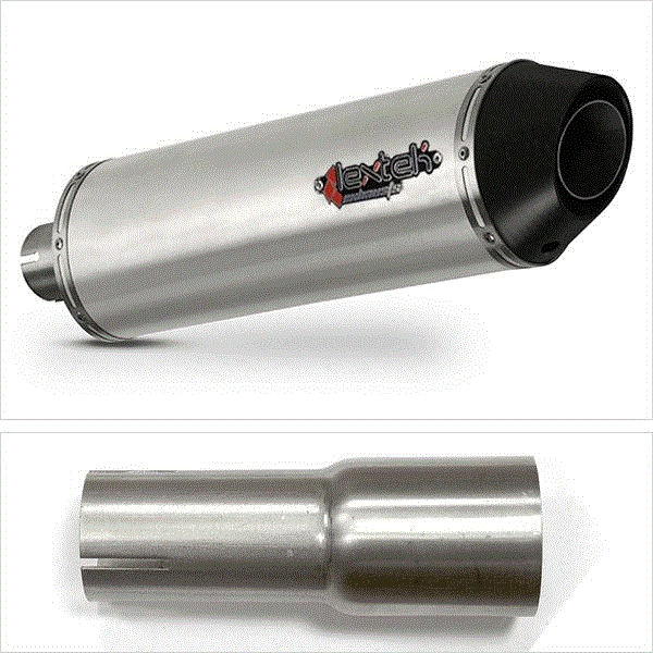 Lextek RP1 Matt S/Steel Oval Exhaust System for Yamaha WR 125 R X (09-16)