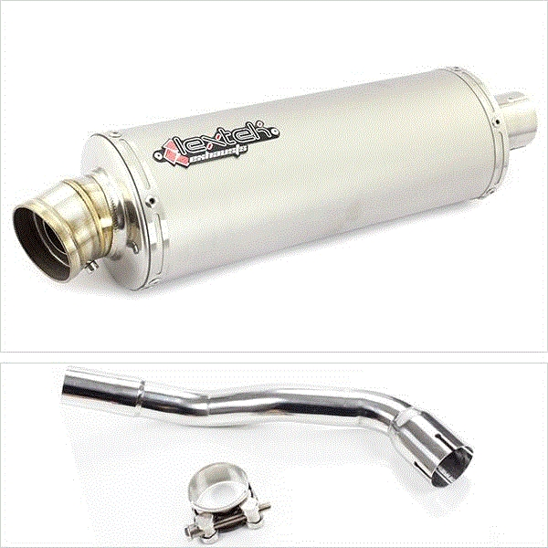 Lextek OP1 Matt S/Steel Exhaust System for Pulse XF250GY (06-15)