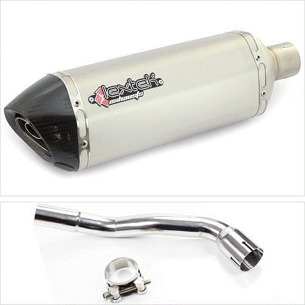 Lextek SP1 Matt S/Steel Hexagonal Exhaust System for Pulse XF250GY (06-15)