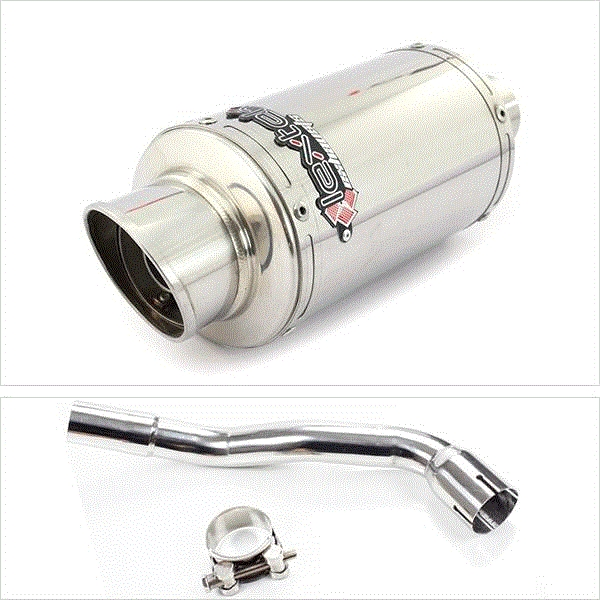 Lextek YP4 S/Steel Stubby Exhaust System for Pulse XF250GY (06-15)