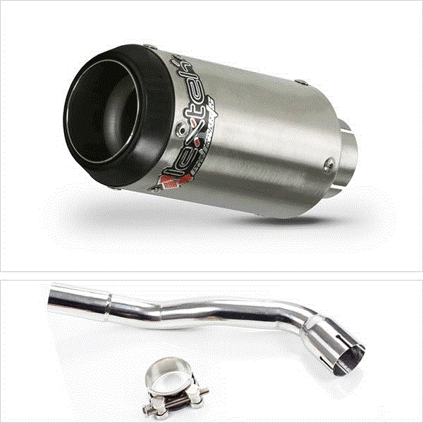 Lextek CP1 Matt S/Steel 150S Exhaust System for Pulse XF250GY (06-15)
