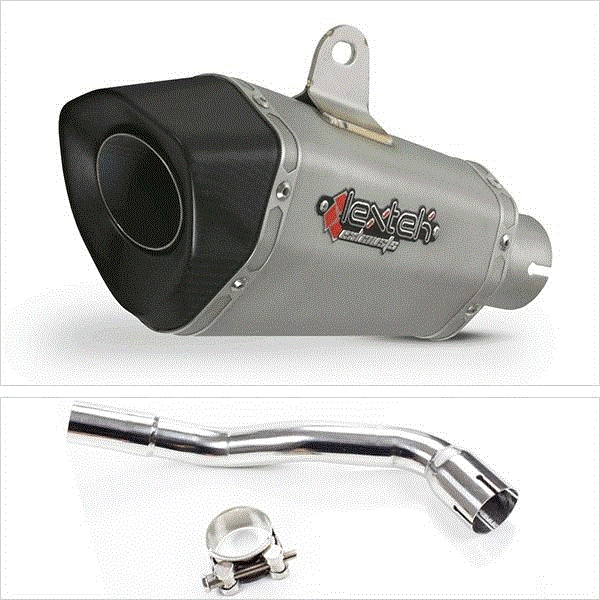 Lextek XP10 Titanium Look Hexagonal Exhaust System for Pulse XF250GY (06-15)