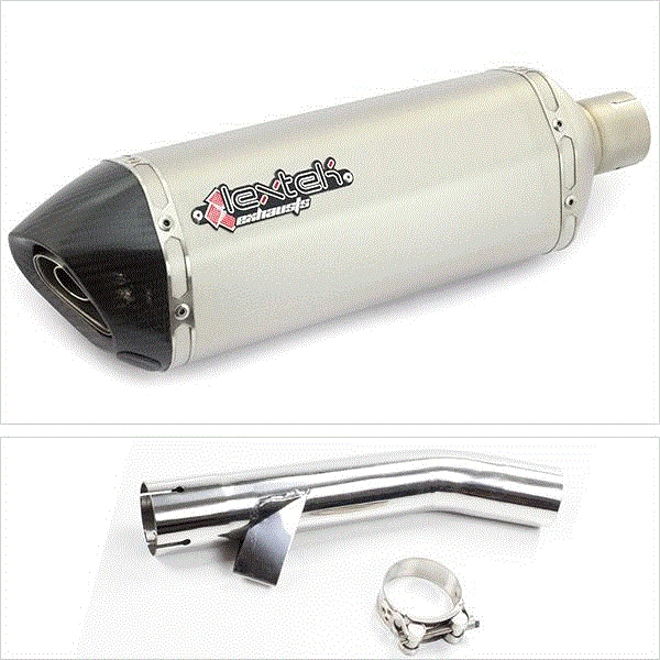 Lextek SP1 Matt S/Steel Hexagonal Exhaust System for Yamaha FZS 600 (97-03)