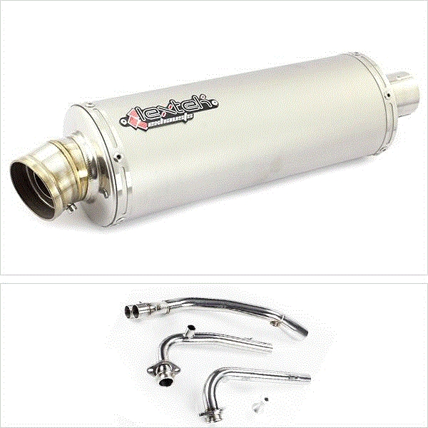 Lextek OP1 Matt S/Steel Exhaust for Yamaha T-Max 530 (14-16)