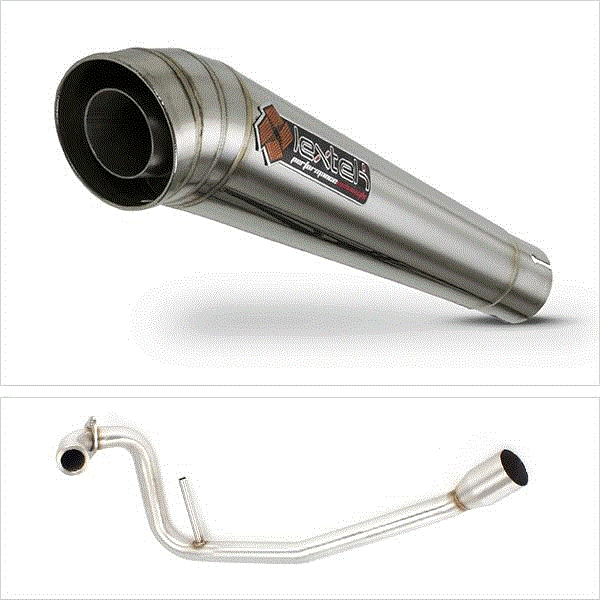 Lextek MP4 S/Steel Megaphone Exhaust System for Yamaha YZF-R125 (08-13)