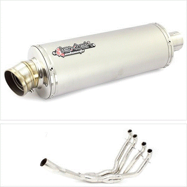 Lextek OP1 Matt S/Steel Exhaust System for Kawasaki ZX10R (10-17)
