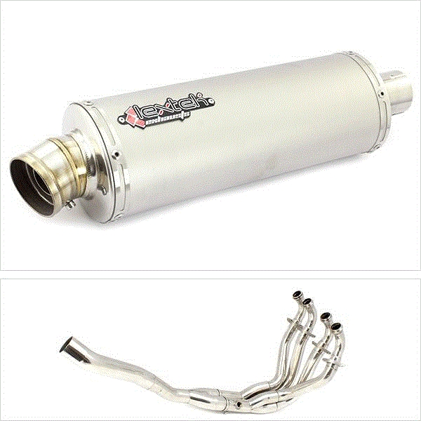 Lextek OP1 Matt S/Steel Exhaust System for Kawasaki ZX-6R (09-19)