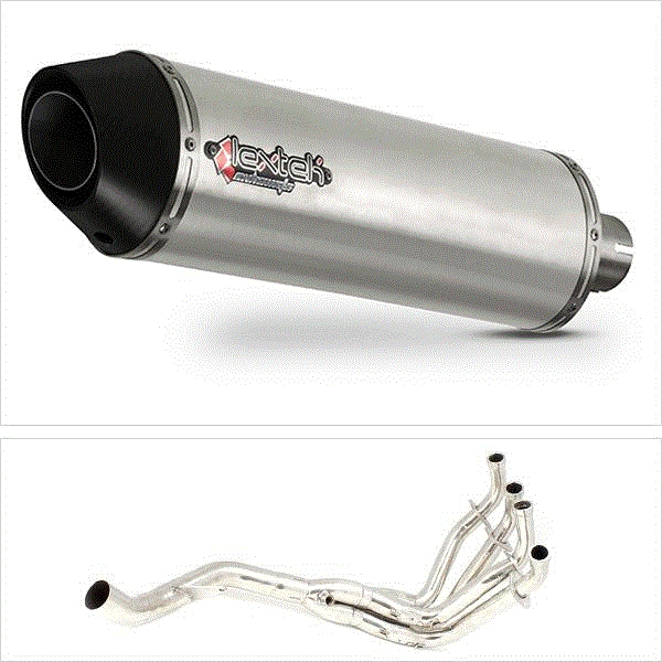 Lextek RP1 Matt S/Steel Oval Exhaust System (Single) for Kawasaki Z1000 (10-19)