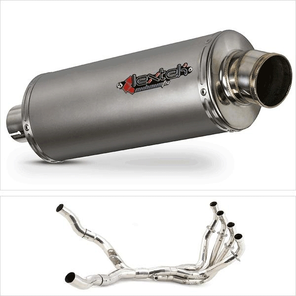 Lextek OP1 Matt S/Steel Twin Exhaust System for Kawasaki Z1000 (10-19)