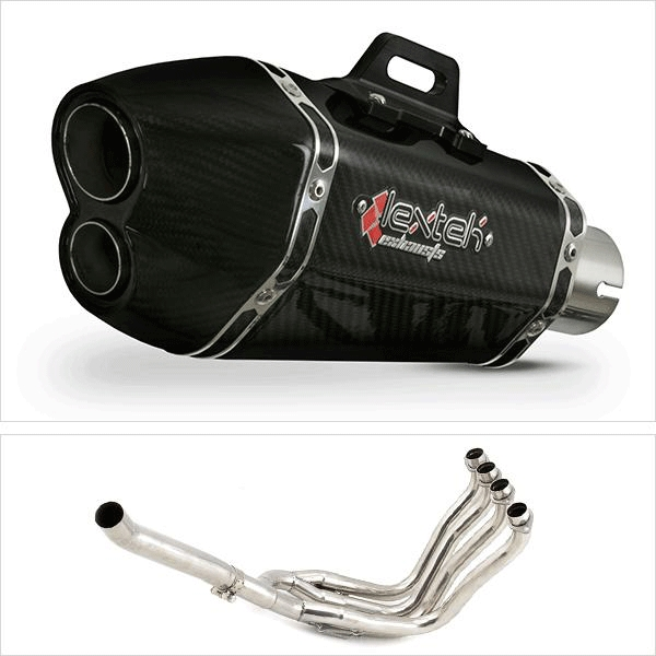 Lextek XP13C Carbon Fibre Hexagonal Exhaust System for Suzuki GSXR1000 (01-06)