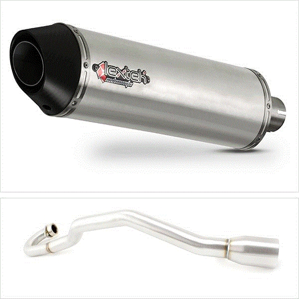 Lextek RP1 Matt S/Steel Oval Exhaust System with 51mm outlet for Lexmoto/Pulse Adrenaline (05-15)