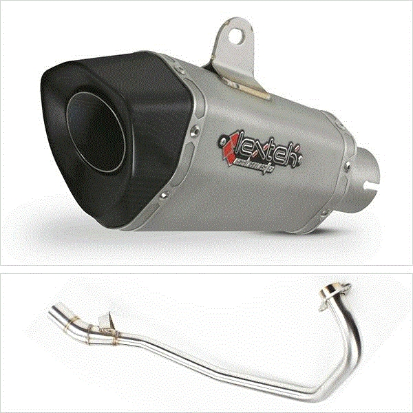 Lextek XP10 Titanium Look Hexagonal Exhaust System for Lexmoto Aspire