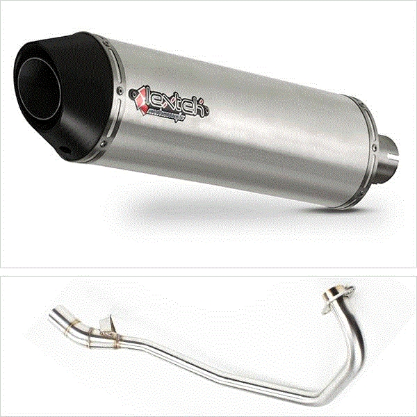 Lextek RP1 Matt S/Steel Oval Exhaust System for Lexmoto Aspire