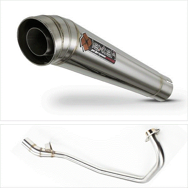Lextek MP4 S/Steel Megaphone Exhaust System for Lexmoto Aspire