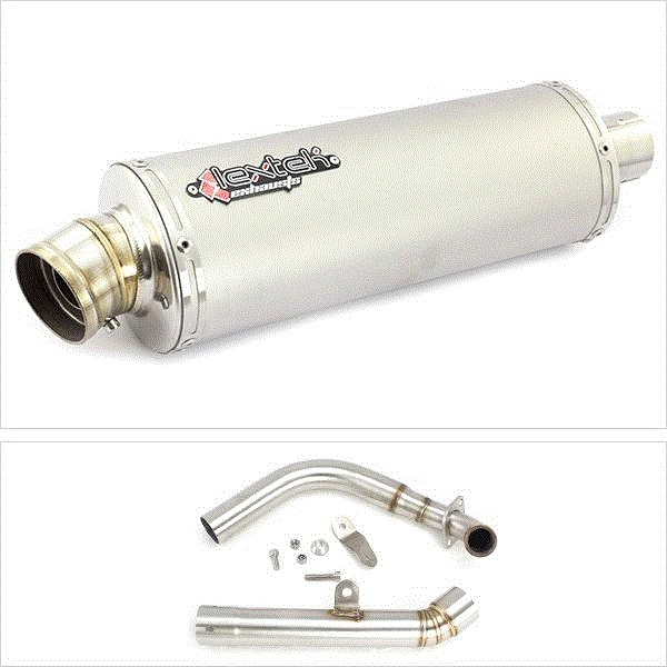 Lextek OP1 Matt S/Steel Exhaust System for Yamaha MT-125 (14-18)