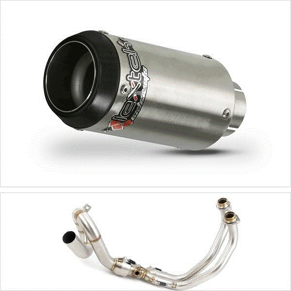 Lextek CP1 Matt S/Steel 150S Exhaust System (Low Level) for Yamaha XSR 700 (15-19)