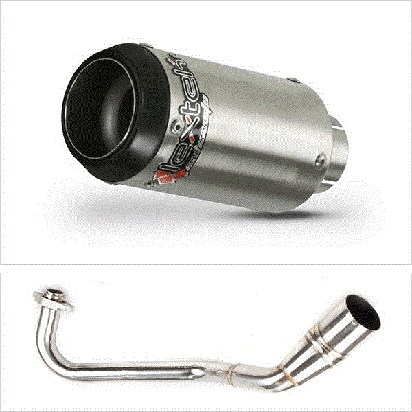 Lextek CP1 Matt S/Steel 150S Exhaust System for Peugeot Speedfight 3 125