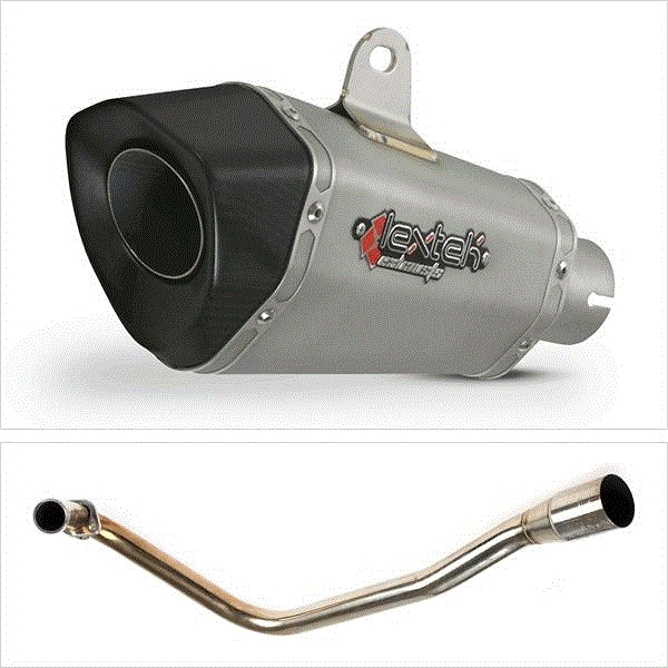 Lextek XP10 Titanium Look Hexagonal Exhaust System for Lexmoto Valiant E3/E4