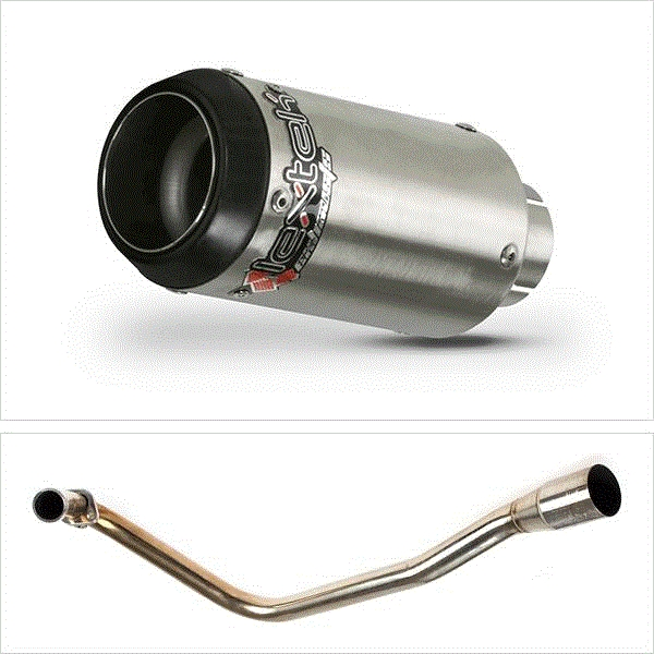 Lextek CP1 Matt S/Steel 150S Exhaust System for Lexmoto Valiant E3/E4