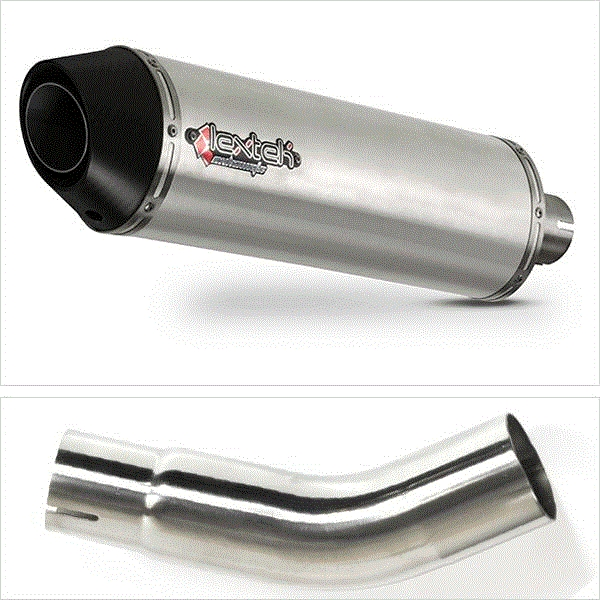 Lextek RP1 Matt S/Steel Oval Exhaust Kit for Suzuki GSX-S 750 (17- 19)