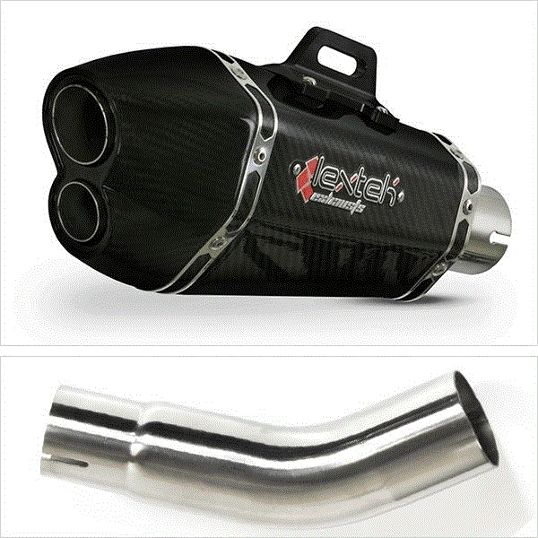 Lextek XP13C Carbon Fibre Hexagonal Exhaust Kit for Suzuki GSX-S 750 (17- 19)