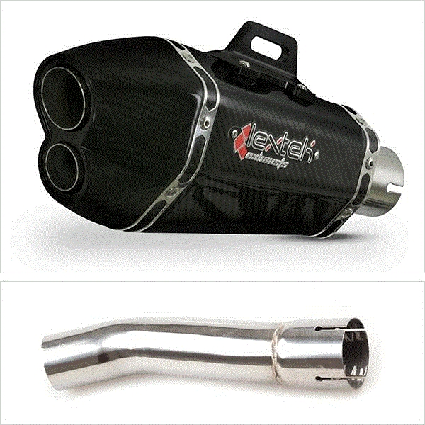 Lextek XP13C Carbon Fibre Hexagonal Exhaust with Link Pipe for Yamaha XJR 1300 (07-16)