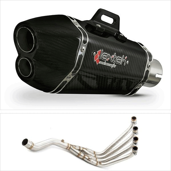 Lextek XP13C Carbon Fibre Hexagonal Exhaust System for Honda CBR650F/CB650F (14-19)