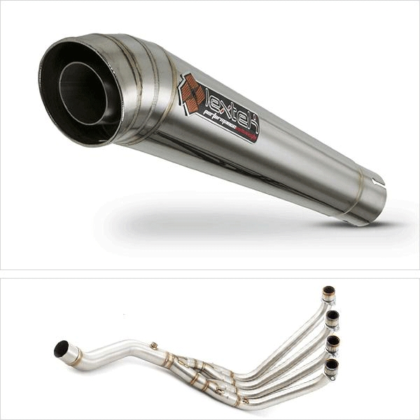 Lextek MP4 S/Steel Megaphone Exhaust System for Honda CBR650F/CB650F (14-19)